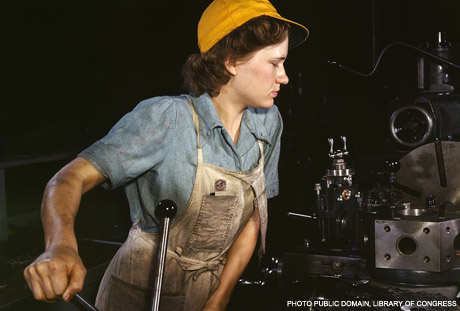 Working woman, WWII, Library of Congress Collection