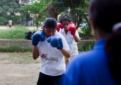Women boxers in India